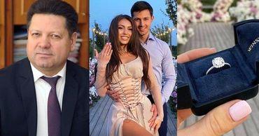 Сын Гацкана подарил невесте обручальное кольцо за 20 тысяч евро.