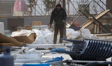На Олимпиаду обрушился ураган.