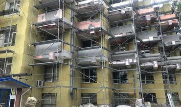 Здание детской городской больницы № 1 полностью утеплят.