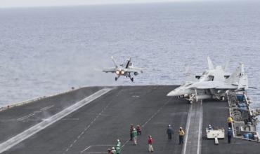Ударная группировка США с авианосцем заняла позиции в Средиземном море