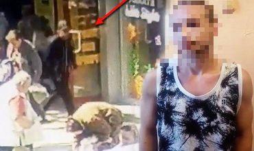 Камера запечатлела момент карманной кражи на одном из рынков столицы.