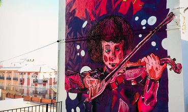 Молдавский стрит-артист создал мурал в Испании.