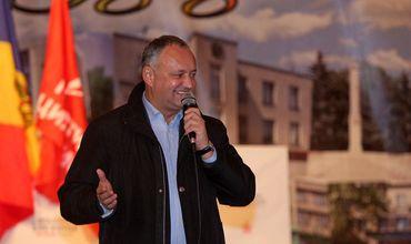 Кандидат от Партии социалистов Игорь Додон.