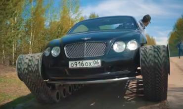 Автоблогер превратил британский люксовый Bentley Continental GTв настоящий танк.