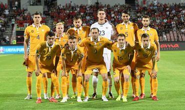 Сборная Молдовы по футболу улетела в Рейкьявик.