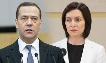 Санду рассказала, что планирует обсудить с Медведевым в Москве
