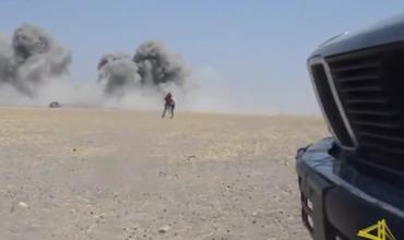 Появилось видео авиаудара по району крушения Ми-8 в Сирии