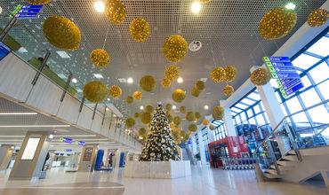 Decorul de la Aeroportul Chișinău, desprins din povești