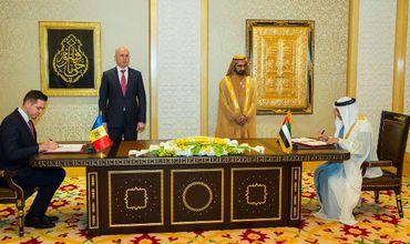 Молдова и Эмираты подписали Меморандум о взаимопонимании