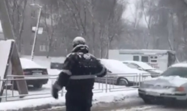 Из-за снегопада перекрыто движение на столичной улице Вадул-луй-Водэ.