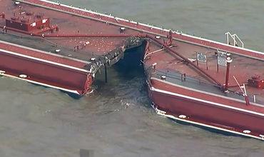 Тонны нефтепродуктов вытекли в Хьюстонский судоходный канал.