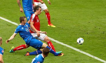 Исландия выиграла у Австрии и сыграет с Англией в 1/8 финала.
