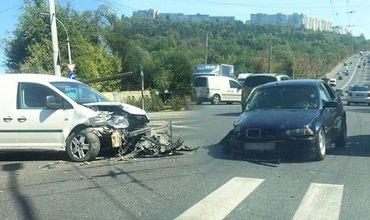 На Рышкановке столкнулись BMW и Volkswagen.
