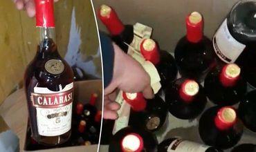 Полицейские изъяли около 200 литров контрафактного алкоголя, а также 500 фальшивых акцизных марок.