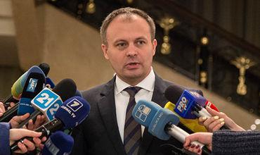 Спикер парламента Молдовы Андриан Канду.