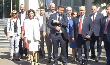 Кабинет Санду собрался на первое заседание в здании правительства.