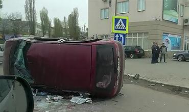 Инцидент произошёл сегодня, 13 апреля, на улице Узинелор в Кишинёве.