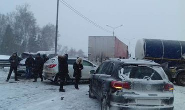 В Москве произошло массовые ДТП на Симферопольском шоссе.