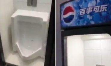 Мужчина не понимал, как воспользоваться туалетом, оформленным под холодильную камеру.