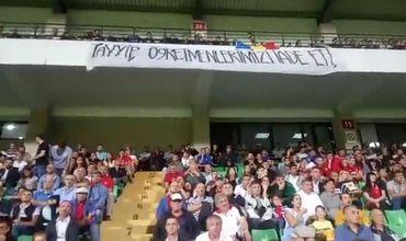 На матче Молдова - Турция Эрдогана попросили вернуть высланных учителей.