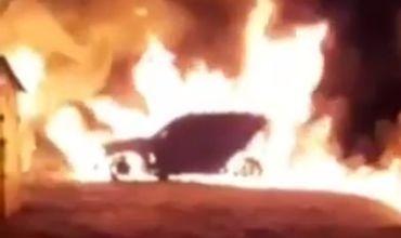 В Вулканештах подожгли BMW X5: пострадавший считает, что это месть