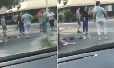 Автомобиль без водителя сбил пенсионерку в столице.