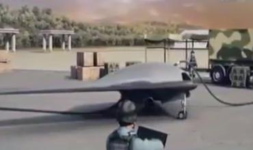Китай показал испытания ударного беспилотника.