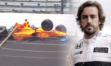 Испанский гонщик не справился с управлением на повороте и вылетел с трассы.