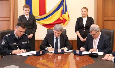 МВД, ГИП и фонд Сорос-Молдова подписали трехстороннее соглашение о сотрудничестве. Фото: igp.gov.md