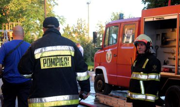 Пожар на улице Узинелор: спасатели эвакуировали рабочих
