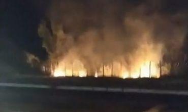 В столице новый пожар произошел на улице Гренобля