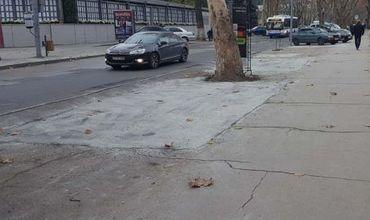 """""""Шедевр"""" из залатанных ям на улице 31 августа спрятали под краску"""