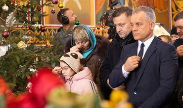 Влад Плахотнюк посетил Рождественскую службу в монастыре Куркь.
