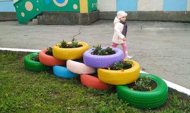 В детсадах Молдовы используют изношенные токсичные шины.