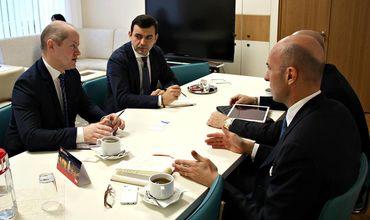 Кирилл Габурич встретился с группой иностранных инвесторов, специализирующихся в области IT и электроэнергии. Фото: mei.gov.md.