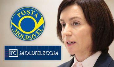 Санду обрушилась с критикой в адрес «Poşta Moldovei» и «Moldtelecom»
