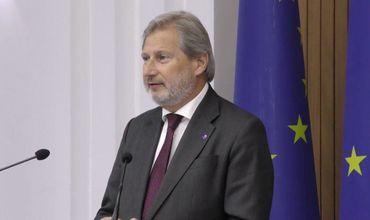 Европейский комиссар по расширению и политике добрососедства Йоханнес Хан.