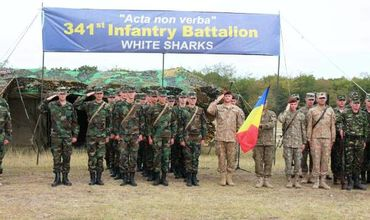 Молдавские военные принимают участие в маневрах Platinum Eagle в Румынии.