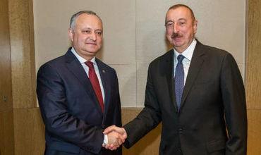 Президент Республики Молдова Игорь Додон провел встречу с Президентом Азербайджанской Республики Ильхамом Алиевым.