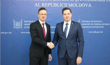Главы МИД Молдовы и Венгрии приветствовали высокий уровень двусторонних отношений.