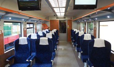 Новый поезд того же типа, что курсирует до Ясс. Его приобрели в 2015 году.