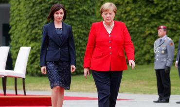 Майя Санду поблагодарила Ангелу Меркель за поддержку Молдовы.