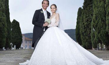 Наследница империи Swarovski вышла замуж в платье за $900 тысяч