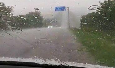 На севере страны прошли сильные дожди с градом