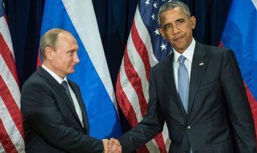 Путин с Обамой пожали друг другу руки.