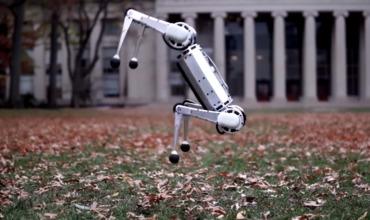 Четвероногого робота научили делать сальто назад.