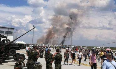 В Румынии МиГ-21 рухнул во время показательного полёта.