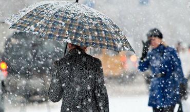 На юге страны возможны осадки в виде дождя со снегом. Ветер северо-западный, слабый, до умеренного.