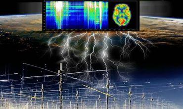 Объект представляет собой сеть из высоковольтных линий электропередач, которые протянуты строго по сторонам света.