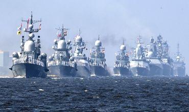 В параде примут участие корабли ВМФ России.